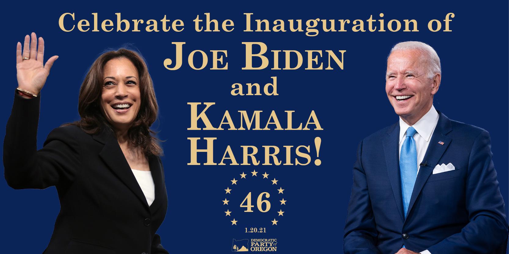 Inauguration of Joe Biden and Kamala Harris - Democratic Party of Oregon